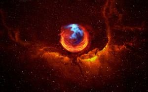 Logo Firefox dans l'espace