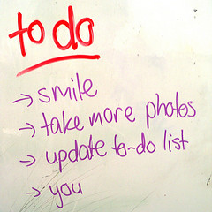 todo list (liste de choses à faire)
