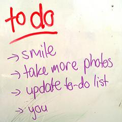 todo list (liste de choses à faire)